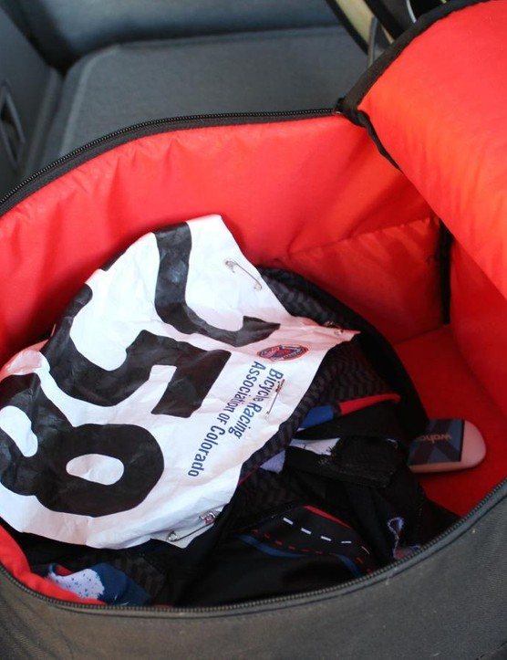 The Bontrager RSL Rain Bag has a bright interior, which makes it easy to find your stuff