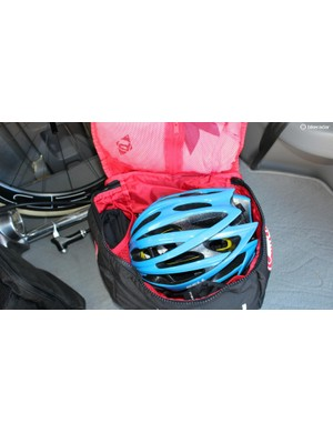 The Castelli Race Rain Bag has pouches for days
