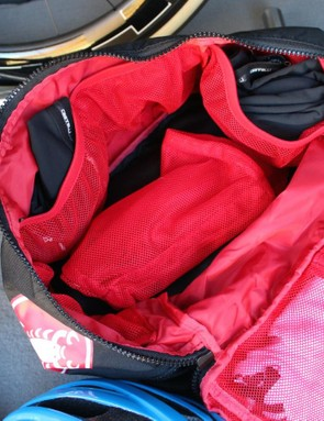 A separate mesh bag can handily double as a wash bag