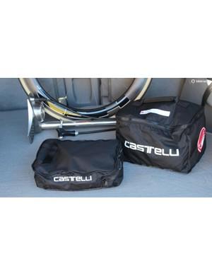 The shoe bag zips off the Castelli Race Rain Bag