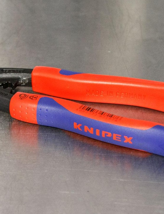Another tool worth considering is a top quality pair of cable cutters. Here, my first choice is the Knipex Wire Rope cutter