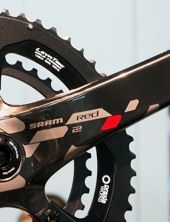 Coming soon from Praxis are double chainrings to fit the latest SRAM Red crankarms