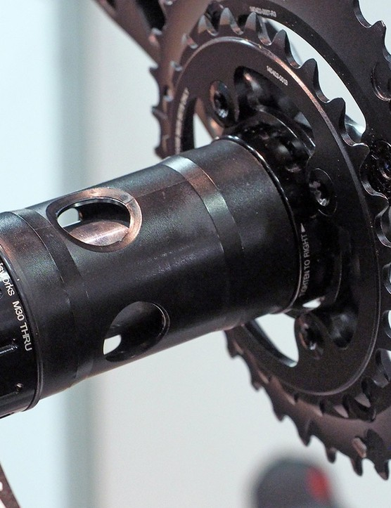 Having problems with your 30mm-diameter crankset creaking in a BB30 or PF30 frame? Praxis's new M30 Thru bottom bracket will likely silence your next ride