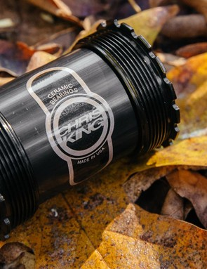 The T47 bottom bracket standard uses the same diameter shell as Press-Fit 30 in a threaded (and hopefully quieter) package