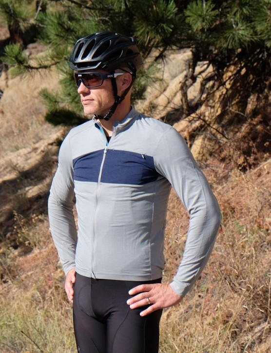 The RBX DriRelease Merino Long Sleeve Jersey is a lightweight poly/wool blend