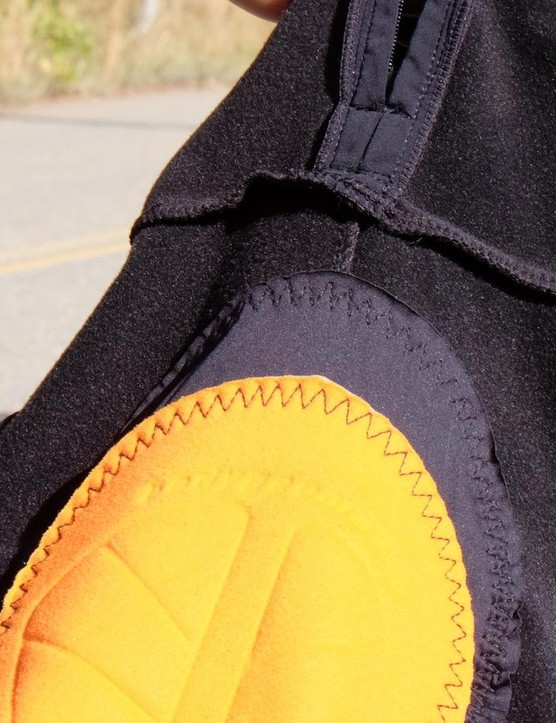 A windproof panel is stitched over the front of the crotch — a welcome detail on the coldest days