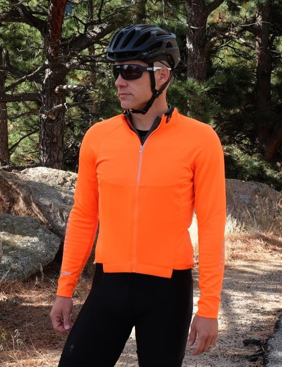 Can you see me now? The Therminal Long Sleeve Jersey also comes in black. The brushed-fleece material is soft, warm and wicking