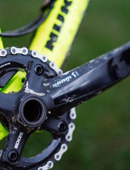 All but the cheapest Megas come with a single-ring crankset
