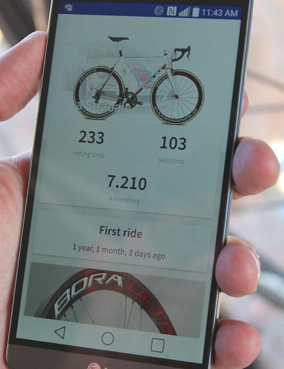 MyCampy records distance, time, number of shifts and more