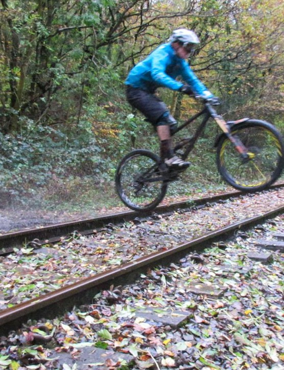 Point it downhill and this bike goes like a train!