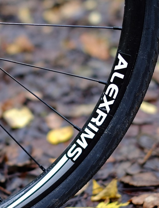 We tried our best but failed to get the cyclocross-derived Alex wheelset to go out of true