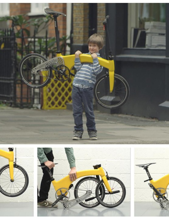 A carbon frame makes The Hummingbird the lightest folding bike in the world, according to the designers