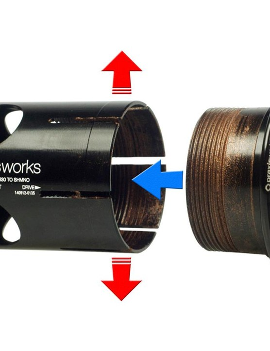 The best remedy for a creaky PF30 bottom bracket isn't threading it for T47, it's using a expanding press-fit bottom bracket, such as this one made my Praxis