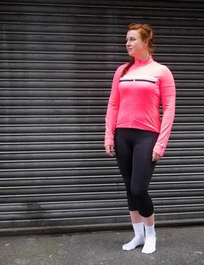 The Rapha women's long-sleeve Brevet Jersey is designed for long endurance rides