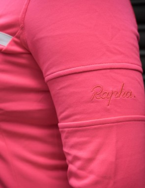 Subtle Rapha embroidery at the left sleeve