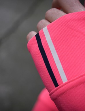 Rapha has also incorporated reflective details on the cuffs