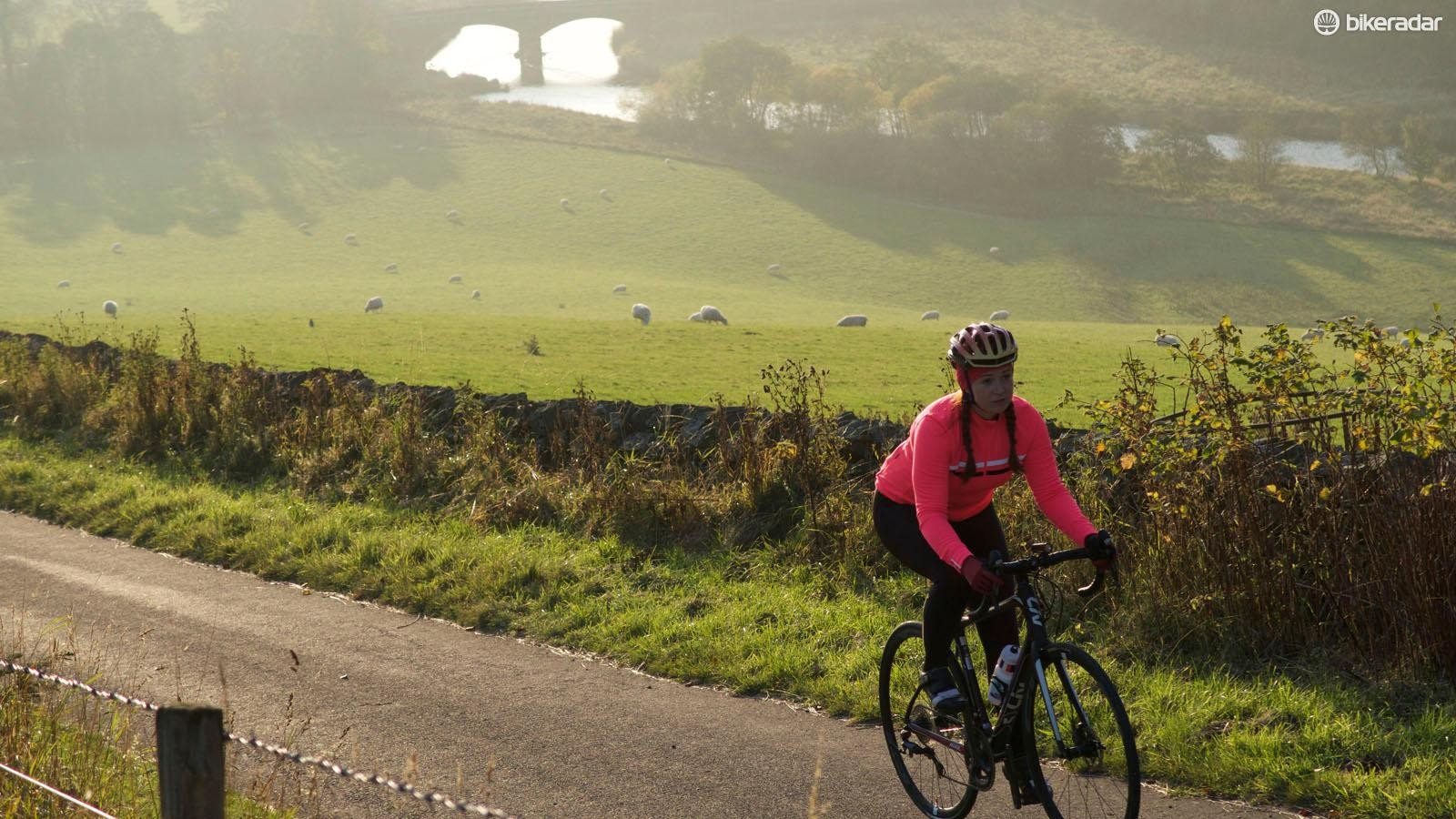 Long steady rides are a great way to burn fat