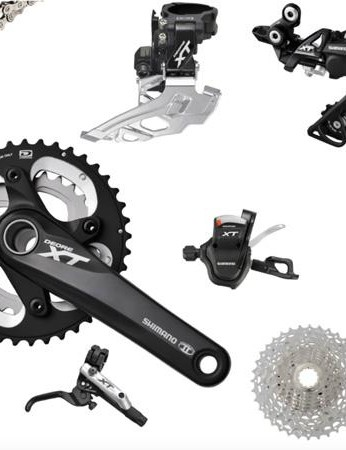 Shimano XT M785 MTB groupset with double crankset