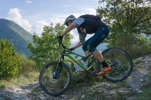 The Mondraker Dune in action - it really can do switchbacks!