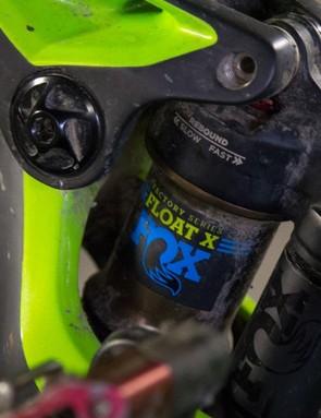 Fox's Float X shock deliver's superb performance via Mondraker's Zero suspension system