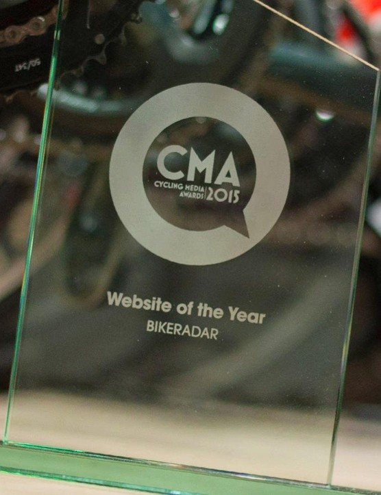 Our chunky Website of the Year award