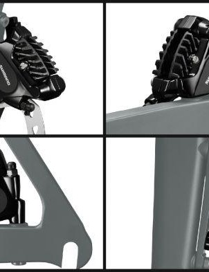Shimano 105 ST-RS505 will use a flat-mount brake and Ice-Tech finned pads