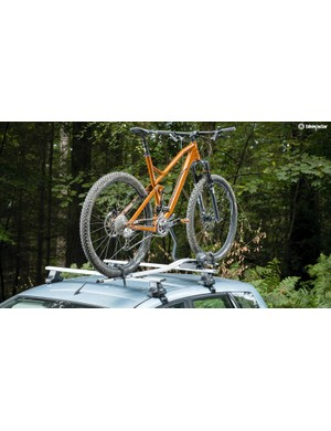 Even very long mountain bikes can be accommodated