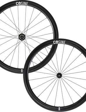 The Cosine carbon clincher wheelset with 45mm rims