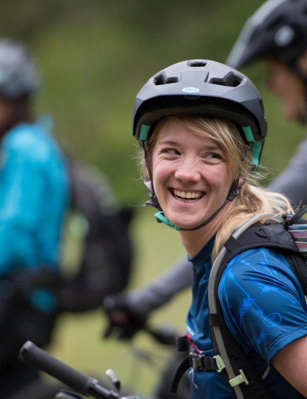 The Girls Rock women's mountain biking group started life as a social ride group started by Jessica Klodnicki and friends