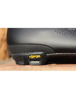 The Vibram lugs are soft and grippy
