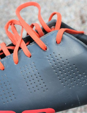 Although an old-school solution, the laces offer a secure and comfortable fit