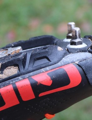 We used the spikes for a few cold and slippery cyclocross races. Otherwise the Vibram soles offer plenty of grip