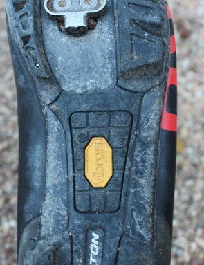 We appreciate the Vibram rubber on the middle of the foot, too, for those times when you are unclipped but need to keep sturdy contact with the pedal