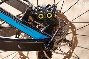 The Lynx's Split Pivot suspension design uses a concentric rear axle pivot