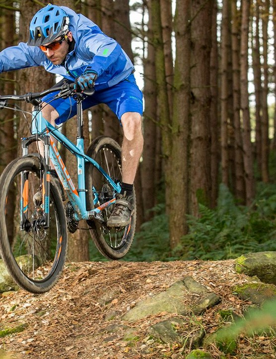The simple coil-sprung fork doesn't make for a refined experience over bigger bumps