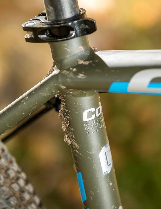 Cannondale's double welded, neatly detailed frame looks great, and its ride is as silky as its looks