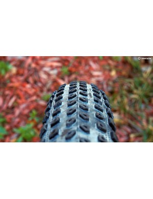 The Bontrager XR1 Team Issue tyres feature a rounded profile