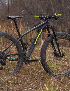 Whereas most companies are applying the 'plus' tyre format to 27.5in wheels, Trek is going out on a limb and going with 29+ on the new Stache series of hardtails