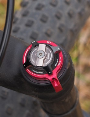 There's a wealth of external adjustment on tap for the Manitou Magnum Pro fork