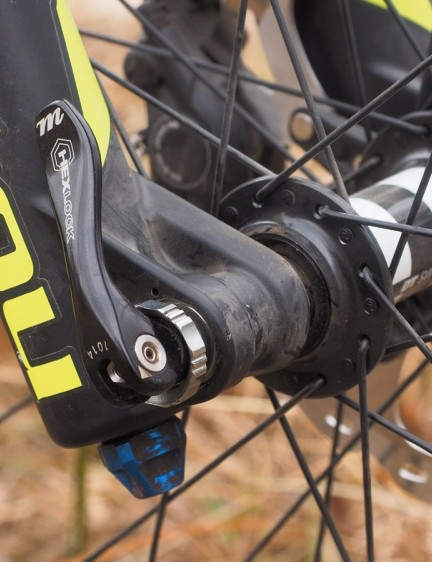 The Manitou HexLock 15mm thru-axle skewer is cleverly designed and generally faster than a threaded setup – provided you've taken the time to understand how it works