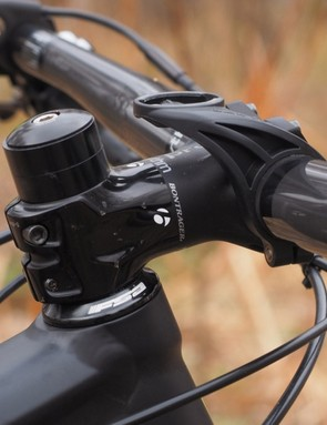 The stock stem is relatively long for truly technical stuff but the medium length (70mm on a 17.5in frame size) works well for all-around trail use