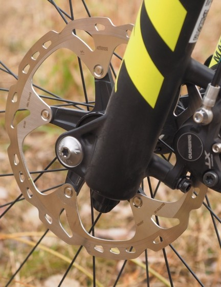 Trek wisely specs bigger 180mm rotors front and rear for extra stopping power