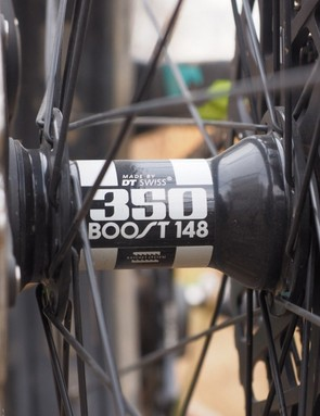 The DT Swiss 350 rear hub is well proven for reliability but we really wish Trek had gone for the faster-engaging 36-tooth or 54-tooth ratchet rings. The standard 15-degree engagement speed of the 24t ratchets is woefully slow. Thankfully, it's a relatively easy upgrade