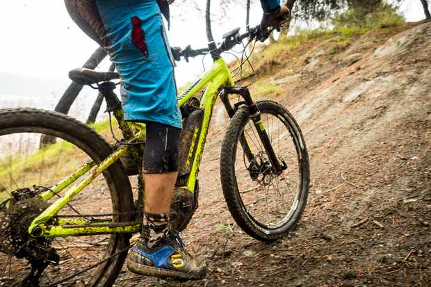 E-mountain bikes, like this offering from Trek, are becoming increasingly popular in the UK