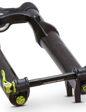 The Diamond's 35mm stanchions help produce a stiff, accurate steering chassis