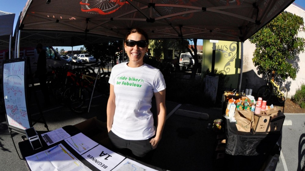 Jessica Klodnicki, executive vice-president and general manager of Bell Helmets and co-founder of the Girls Rock women's MTB ride group