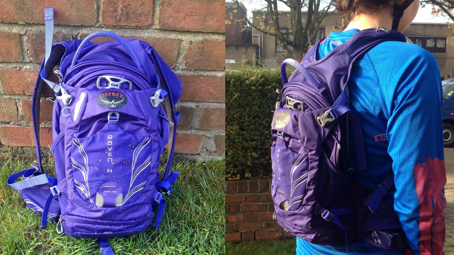 The Osprey Raven 14 women's mountain bike rucksack has pockets galore