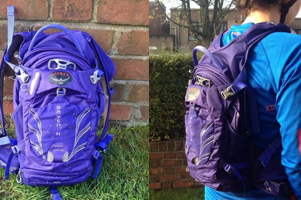 The Osprey Raven 14 women's mountain bike rucksack has pockets galore