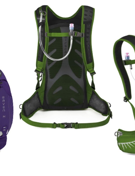 The Osprey Raven 14 is available in purple and green