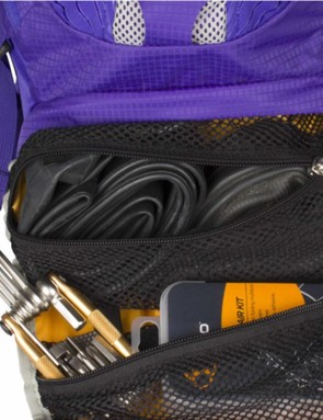 The bag comes with an integrated tool roll so you have your essentials on hand if you need them